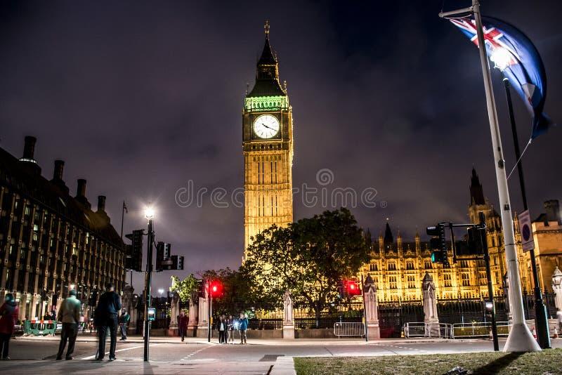 London Big Ben Tower clock Skyline night 2. London with the Big Ben Tower clock the Skyline at night 2 stock photography