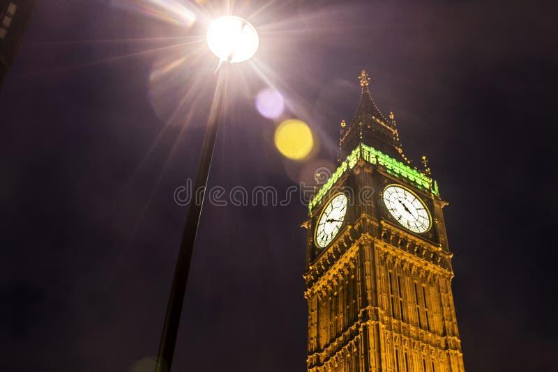 London Big Ben Tower clock Skyline night 3. London with the Big Ben Tower clock the Skyline at night 3 stock photos