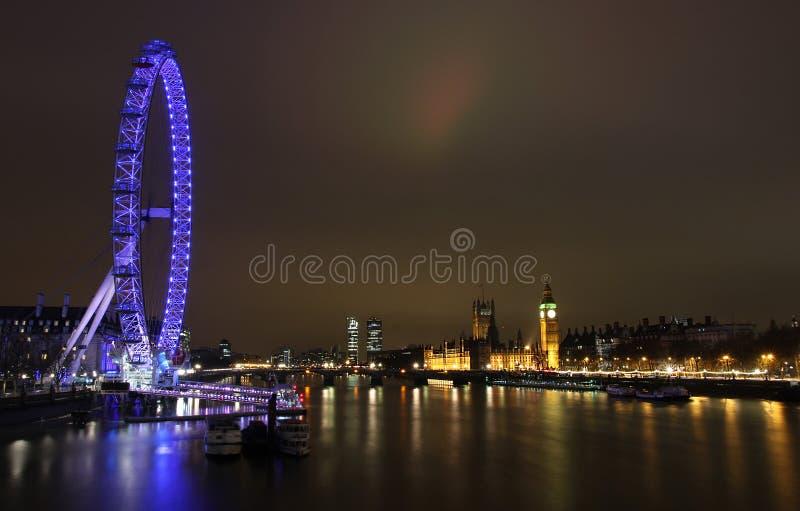 London bis zum Night stockfotografie