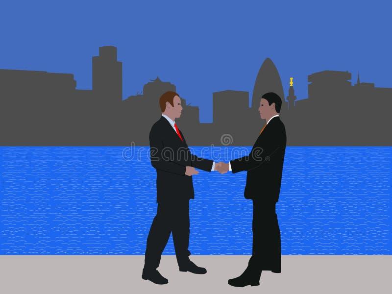 london biznesowy spotkanie ilustracji