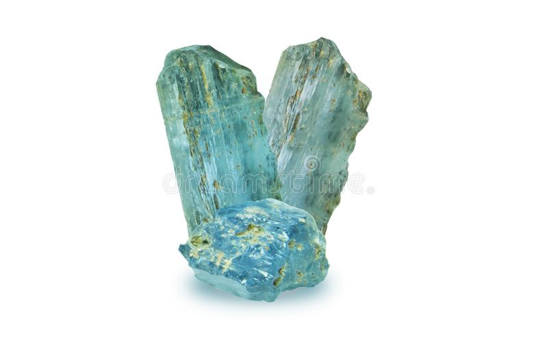 London blue topaz rough and Still not grinding shape ,blue stone stock photo