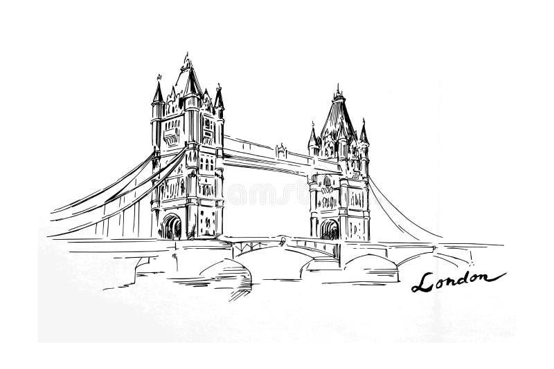 London-Brücke stock abbildung
