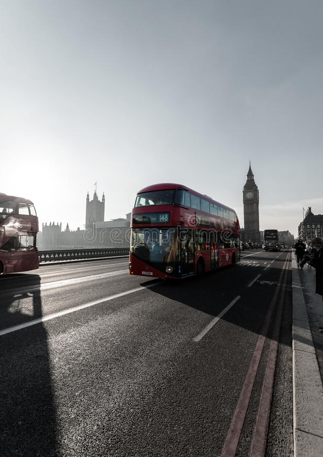 London Bridge with Big Ben in background stock photography