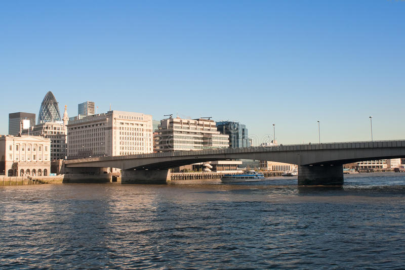 Download The London Bridge With The City In The Backgrou Stock Photo - Image of building, bridge: 12080362