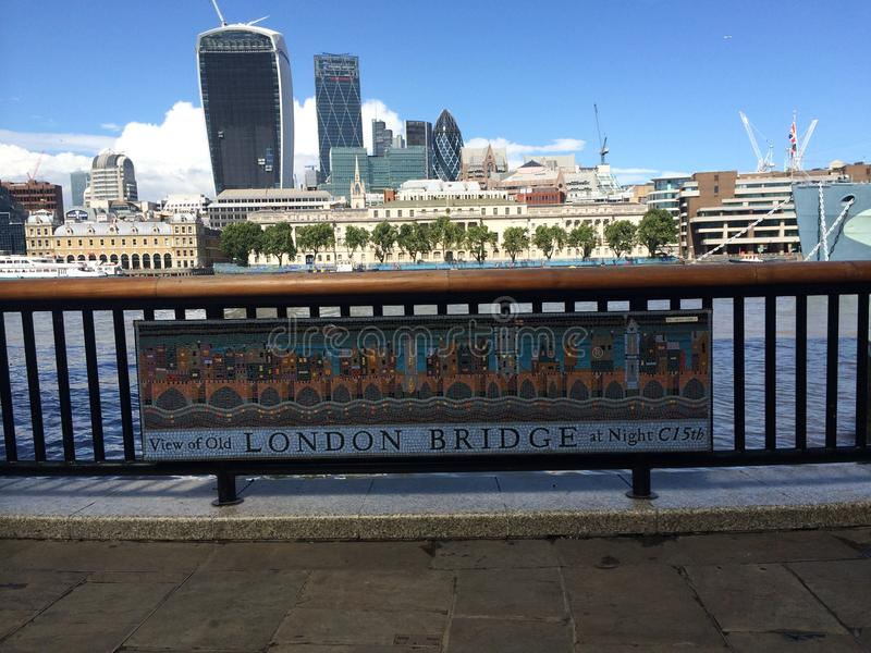 London Bridge Day Skyline royalty free stock images
