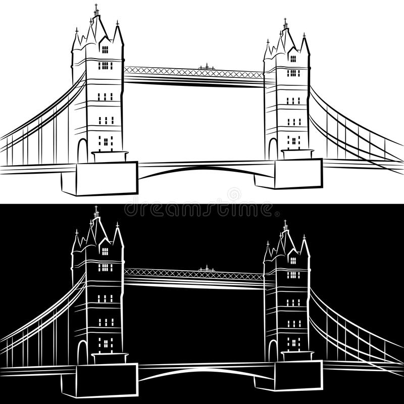 Download London Bridge Drawing stock vector. Image of graphic - 26033864