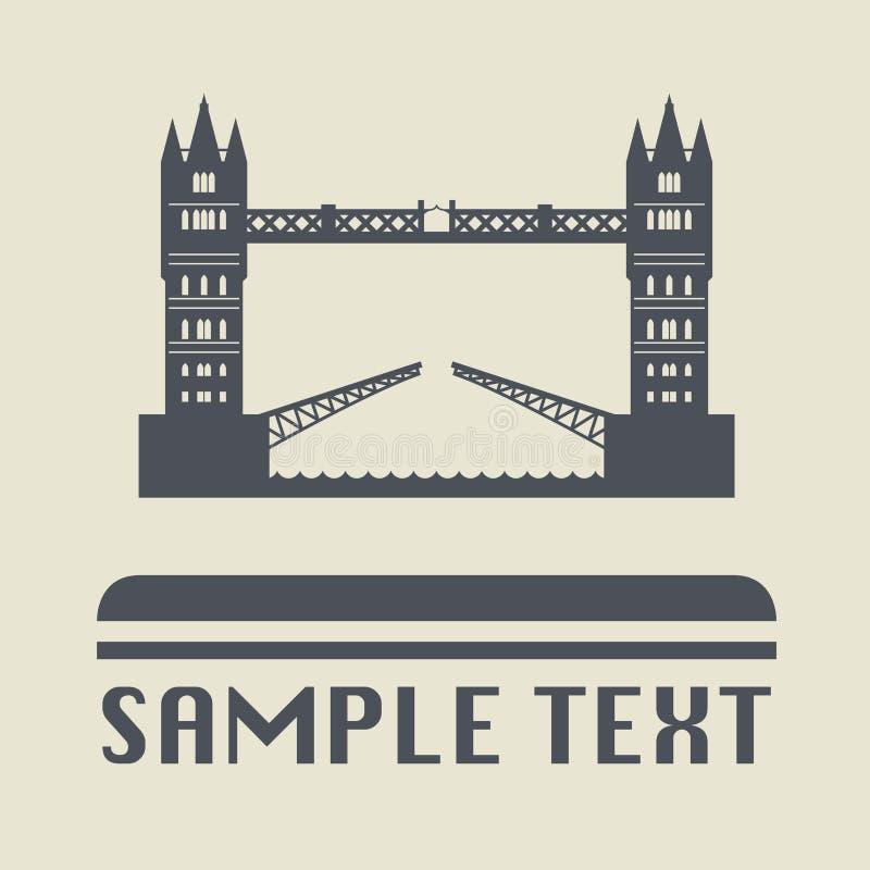 London bridge icon or sign. Vector illustration stock illustration