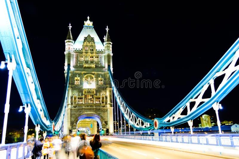 Download London bridge, night stock photo. Image of glowing, crossing - 33057760