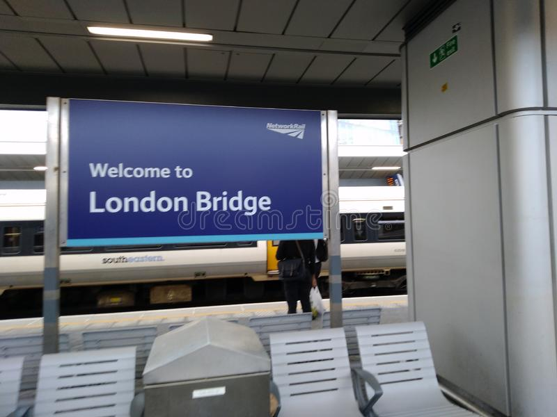 London bridge station gate beautiful day United Kingdom, stock photos