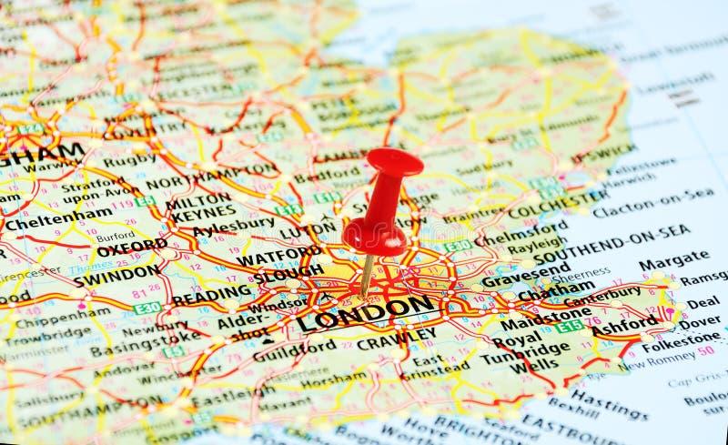 London, BRITISCHER Kartenstift stockfotografie