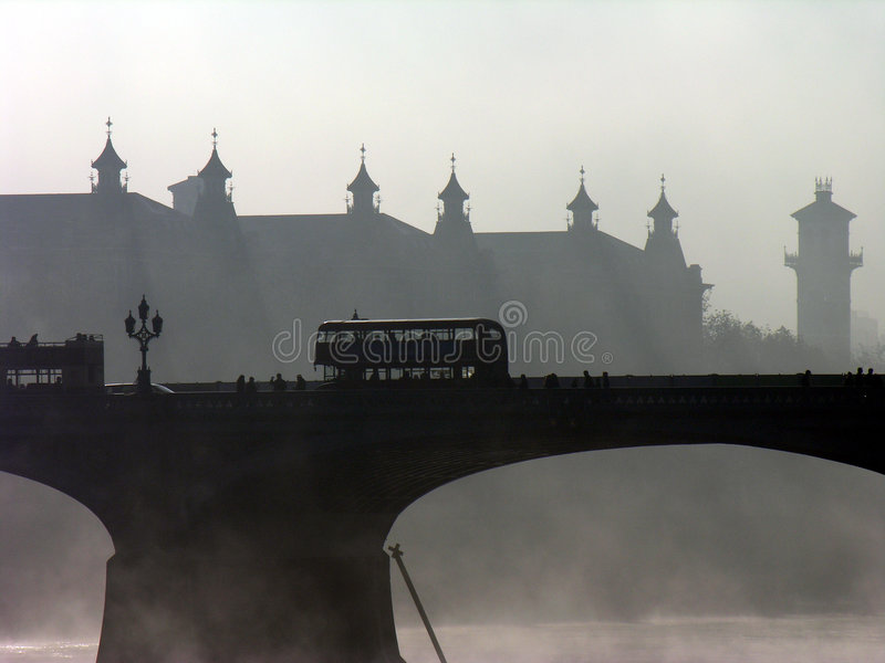 London Bus. Routemaster bus on Westminster Bridge royalty free stock photography