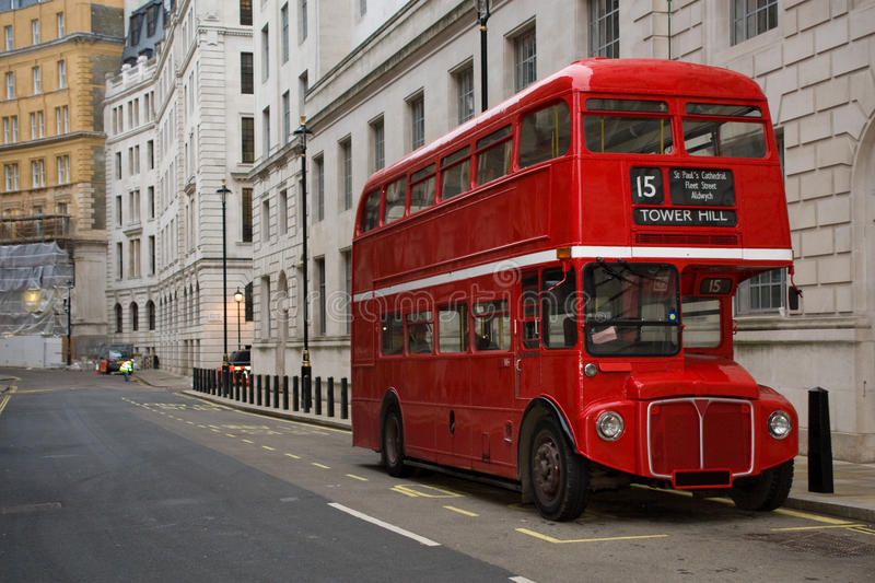 London Bus. An old routemaster bus near Whitehall, London stock photo