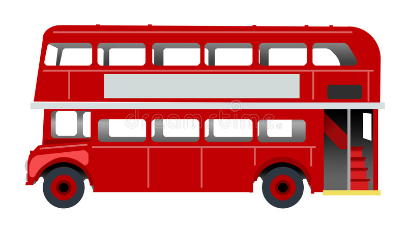 London bus. Isolated classic red london bus