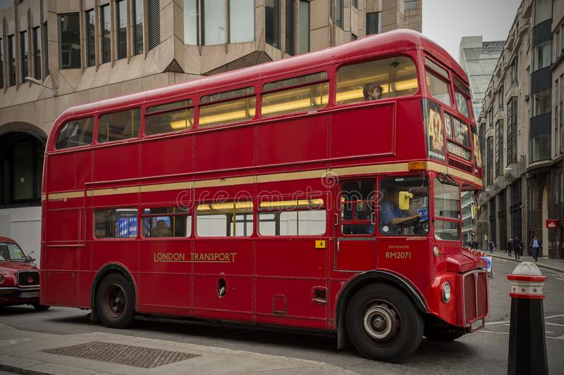 London bus in circulation royalty free stock images