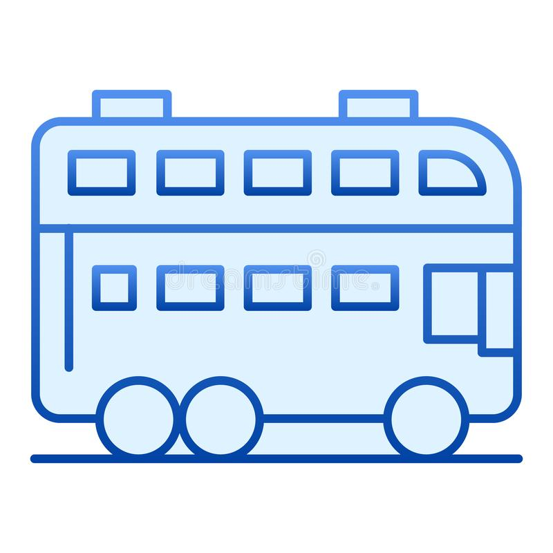 London bus flat icon. Double decker bus blue icons in trendy flat style. Travel gradient style design, designed for web. And app. Eps 10 stock illustration