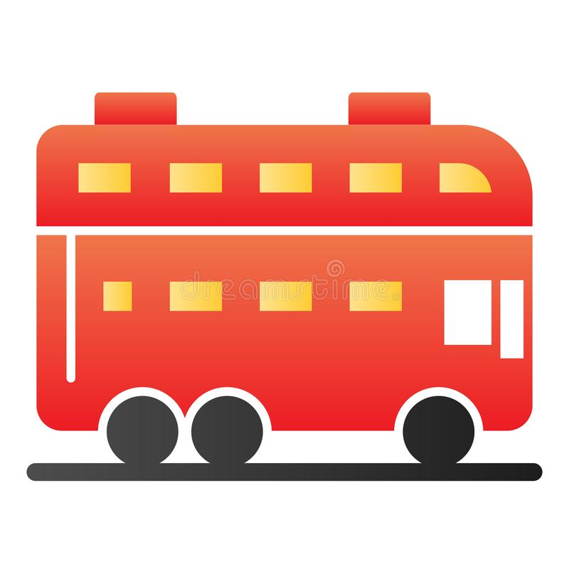 London bus flat icon. Double decker bus color icons in trendy flat style. Travel gradient style design, designed for web. And app. Eps 10 vector illustration
