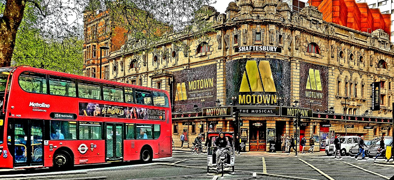 London bus Motown streetlife London transport royalty free stock photography