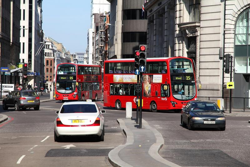 London buses royalty free stock photos