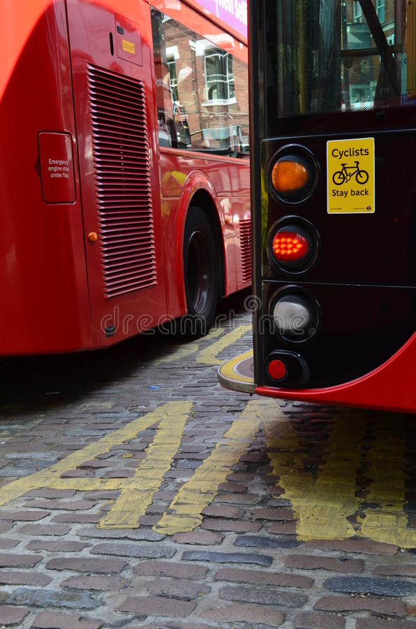 London buses. royalty free stock image