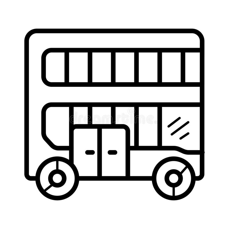 London-Busikonen-Vektorillustration lizenzfreie abbildung