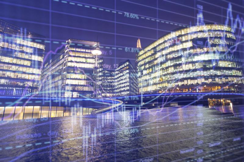 London business center royalty free stock images