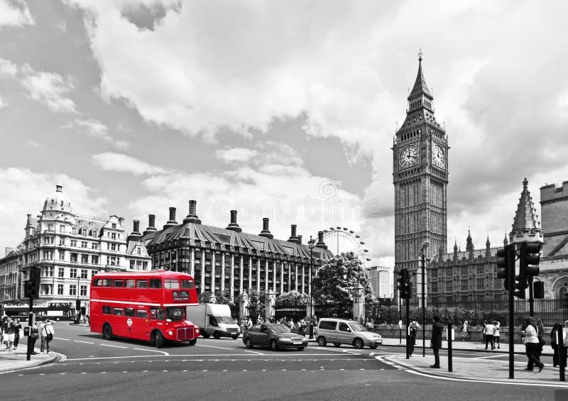 London buss royaltyfria bilder