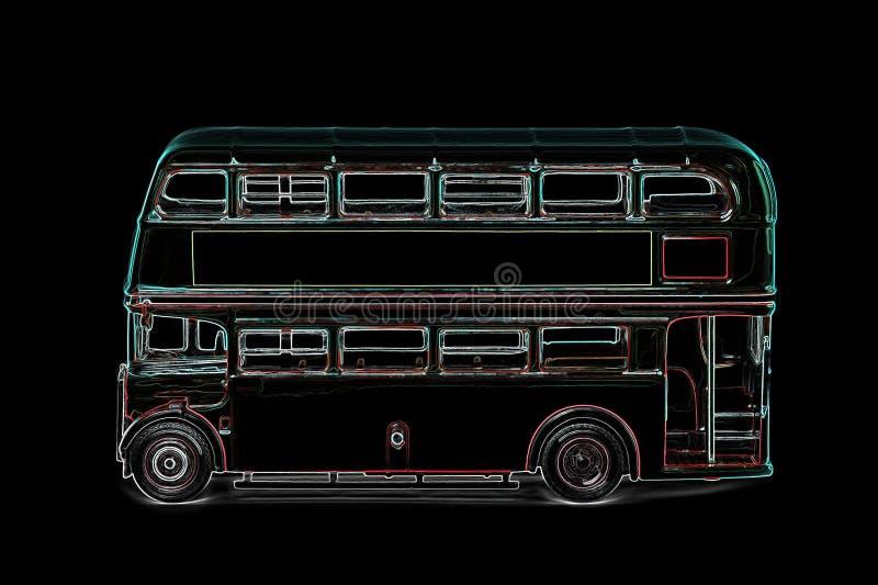 London buss vektor illustrationer