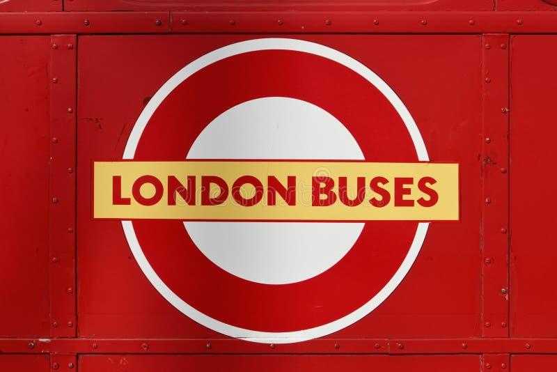 London busslogo royaltyfri bild
