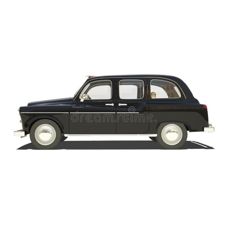 London Cab Isolated. On white royalty free illustration