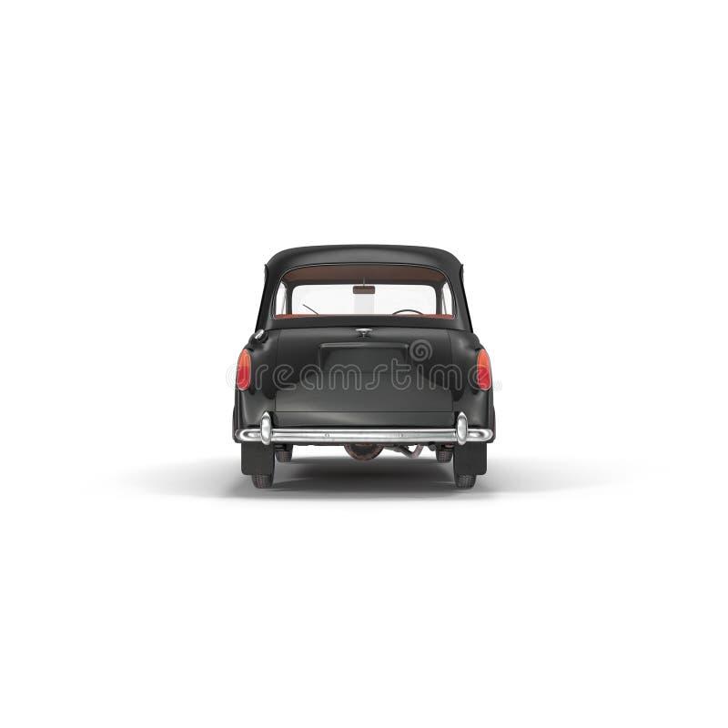 London cab isolated on white 3D illustration stock illustration