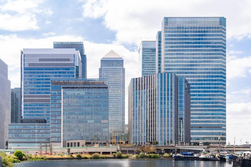 London Canary Wharf stock image