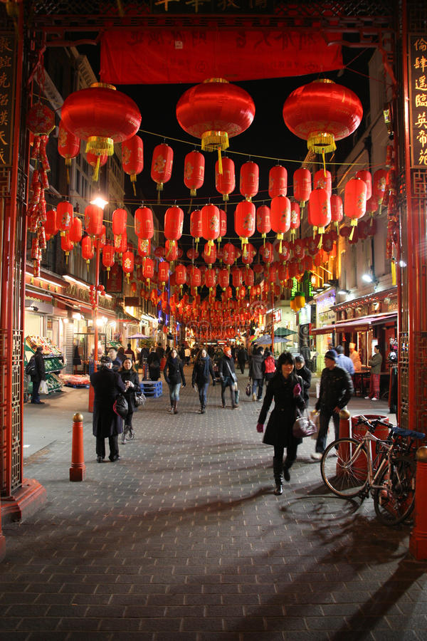 Download London Chinatown editorial photography. Image of tourists - 12733407