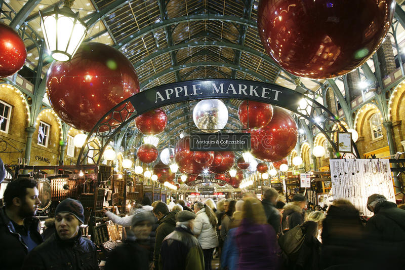 2013, London Christmas Decoration, Covent Garden royalty free stock image