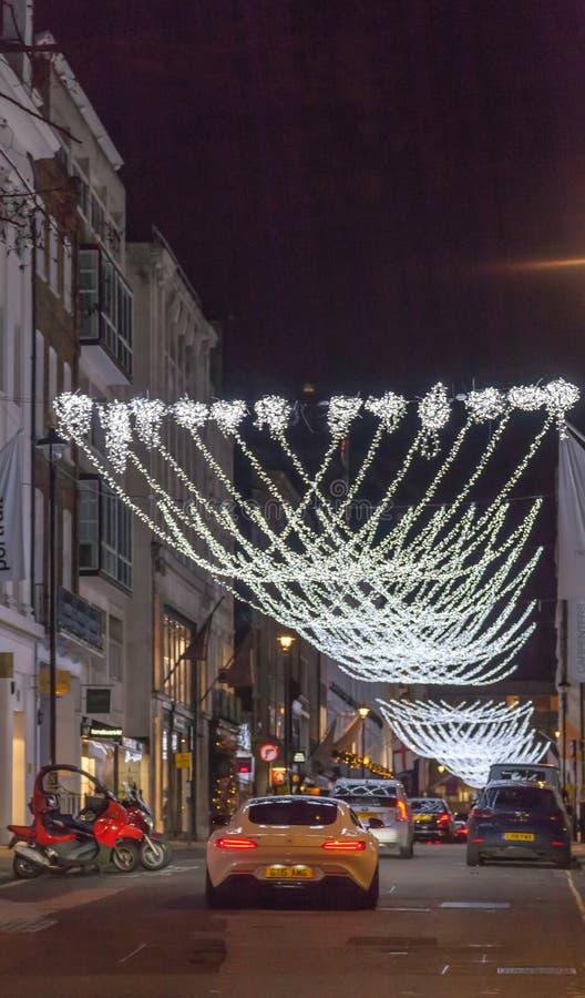 London Christmas Decoration 2018. royalty free stock image