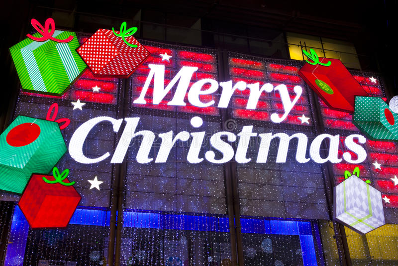 London Christmas Lights On Oxford Street Editorial Stock Image