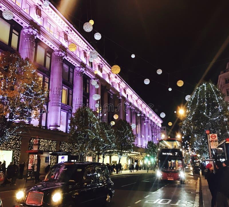 London Christmas Shopping stock photo