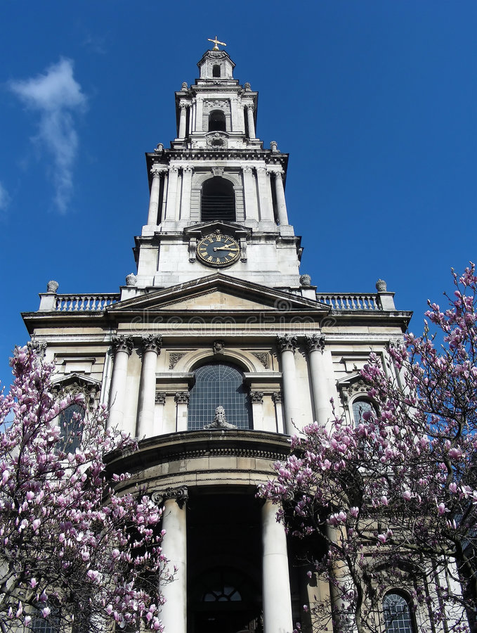 London Church stock photography
