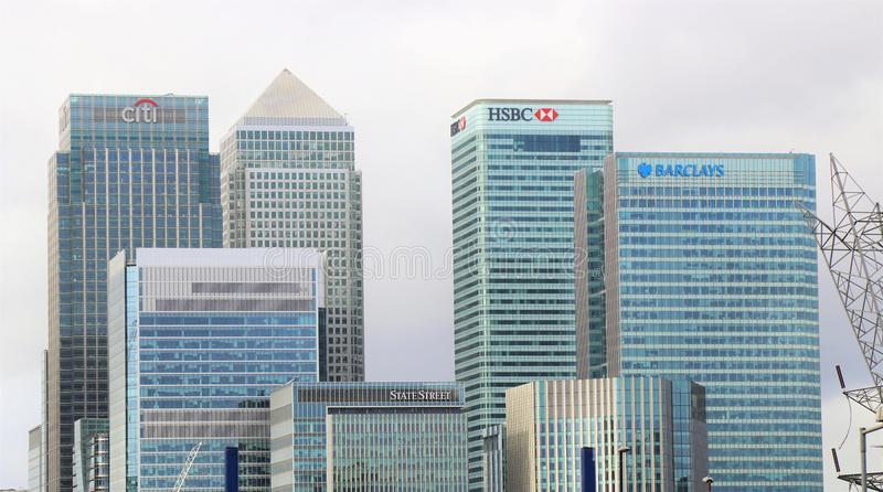London city banks district royalty free stock photography