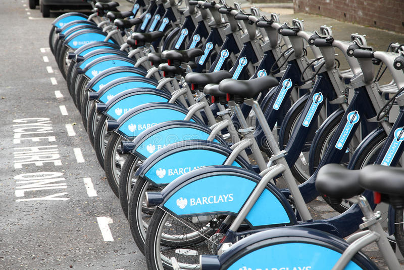 London city bikes royalty free stock photo