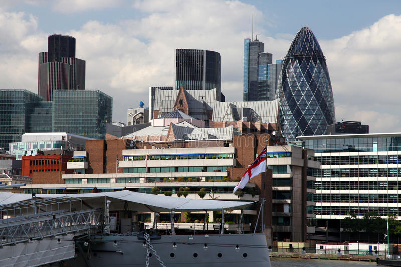 London With City Cruise Stock Images