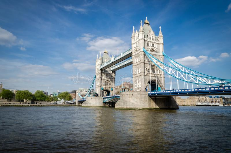 London city / England: Tower Bridge in late afternoon royalty free stock image