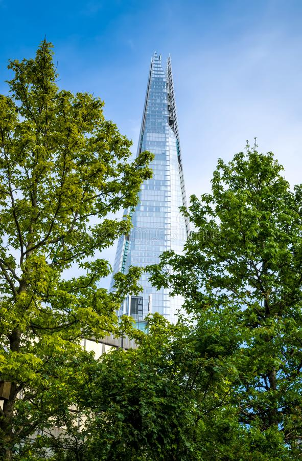London city / England: View on skyscraper Shard stock photo