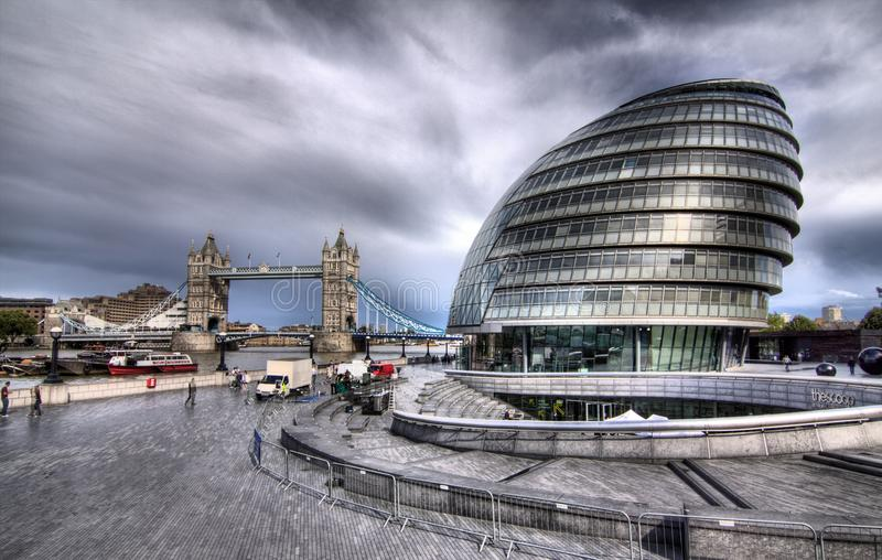 The London City Hall. Building on June 3, 2012 in London.The building has an unusual, bulbous shape, purportedly intended to reduce its surface area and thus stock images