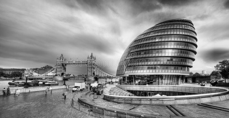 The London City Hall. Building on June 1, 2012 in London.The building has an unusual, bulbous shape, purportedly intended to reduce its surface area and thus royalty free stock images