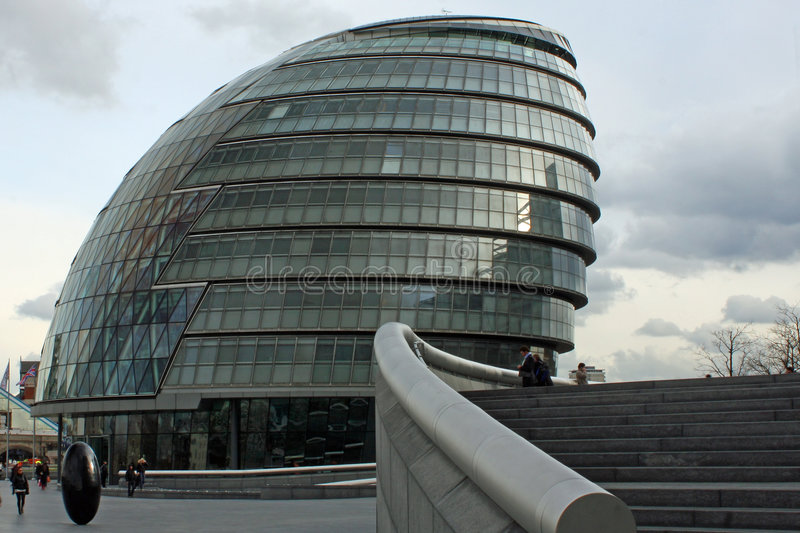 London City Hall. On the Thames River stock photos