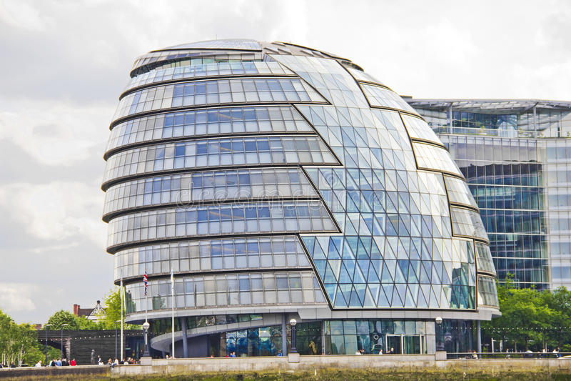 London City Hall Building. On May 14, 2011 in London, UK. The building has an unusual, bulbous shape, intended to reduce its surface area and thus improve stock photos