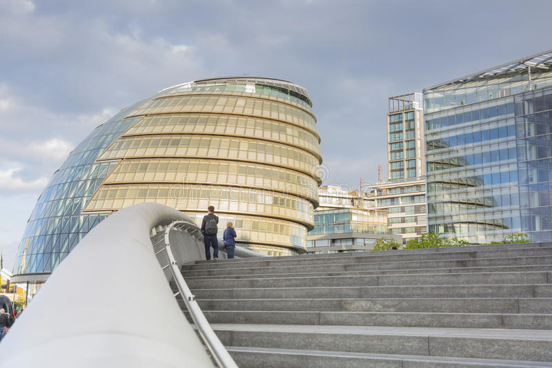 London City Hall. Building in Southwark, south bank of the Thames by the architect Norman Foster stock photography
