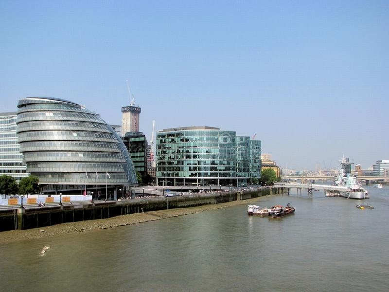 London City Hall. Building in London, UK. The City hall building has an unusual, bulbous shape, intended to improve energy efficiency royalty free stock image