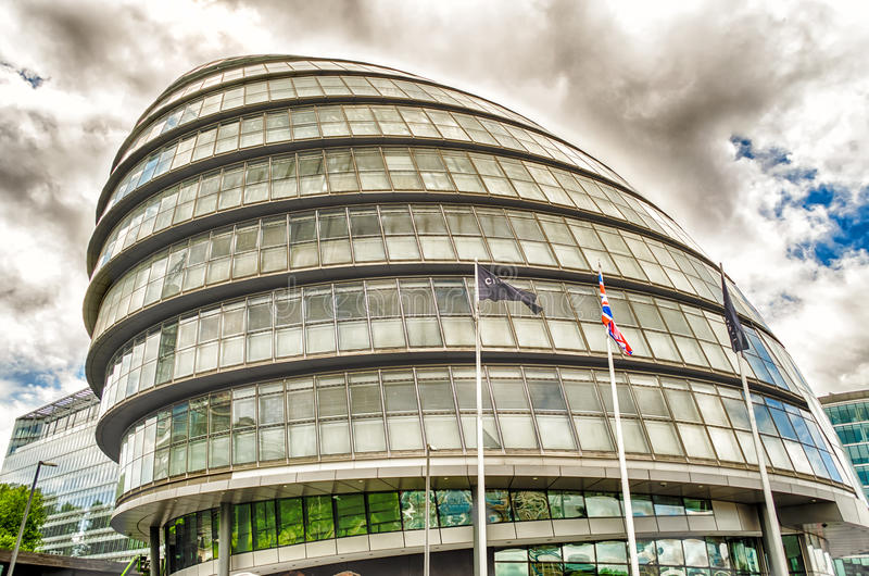 London City Hall. Modern Building on the Southbank, London, UK royalty free stock image