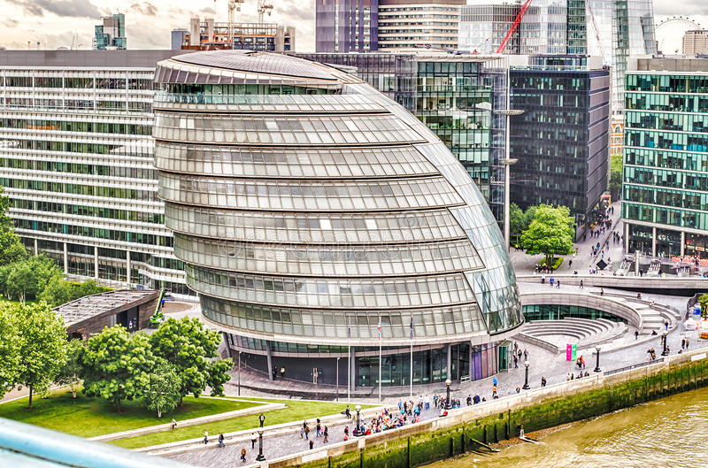 London City Hall. Modern Building on the Southbank, London, UK stock photos